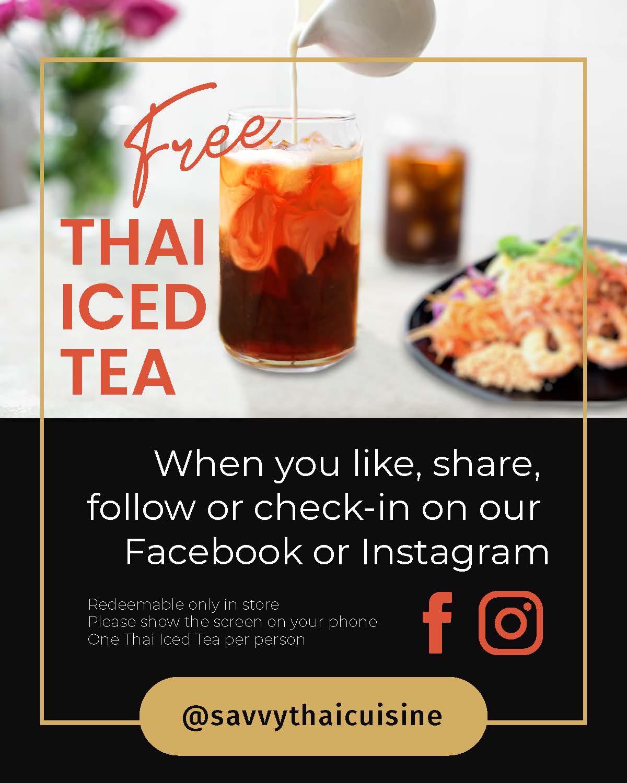 Free Thai Iced Tea