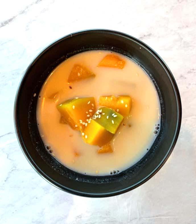 Pumpkin in coconut milk